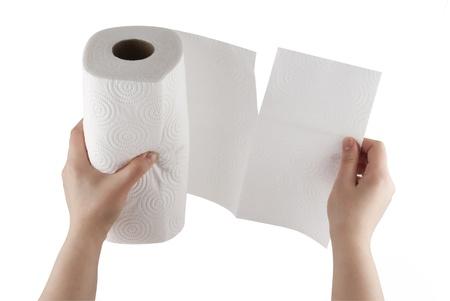 tejido: Toalla de papel rasgado de mano  Foto de archivo