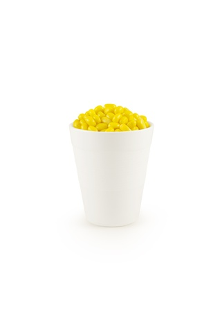 raw gold: Corn in cup