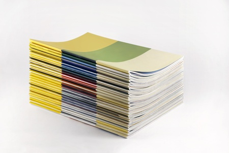 printed media: Stack of magazines with blank cover