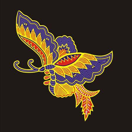 batik: papillon Banque d'images