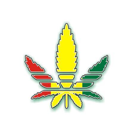 rastafari: marijuana leaf Stock Photo