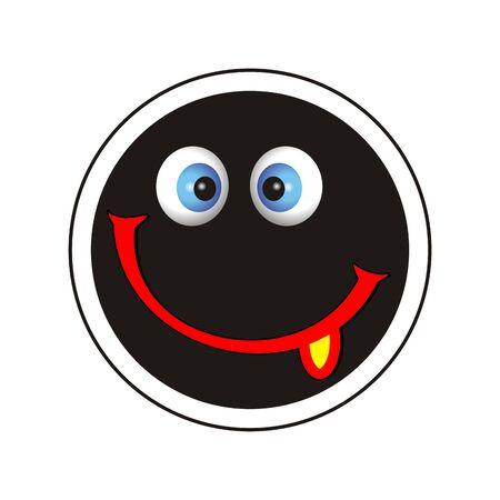 smile icon with tongue Stock Photo - 7455154