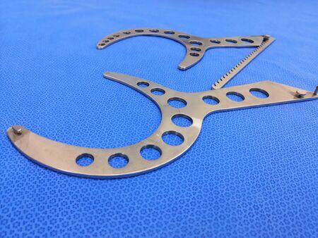 Plastic Breast Surgery Instrument. Mammostat Breast Elevator