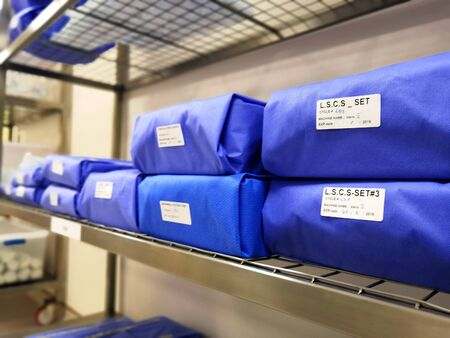 Central Sterile Service Department. Wrapped Sterile Instruments.