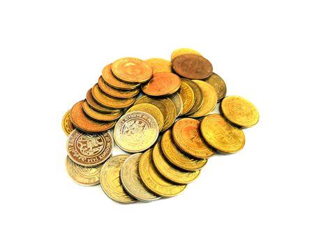 Closeup Image Of Bahrain Golden Coins Collections