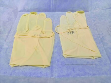 Medical And Surgical Paired White Gloves In The Pack