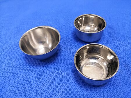 Closeup Image Of Medical And Surgical Solution Bowls 写真素材