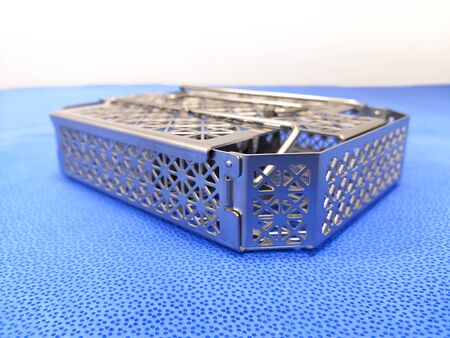 Closeup Image Of Stainless Steel Sterilization Tray