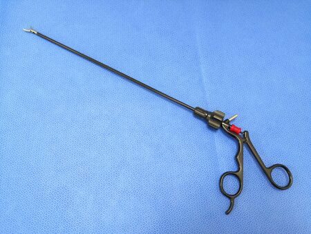 Closeup Image Of Black Laparoscopic Surgical Instrument