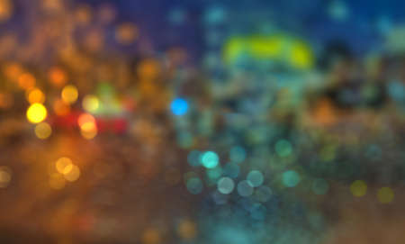 Blue Bokeh Abstract Background For Photo Editing