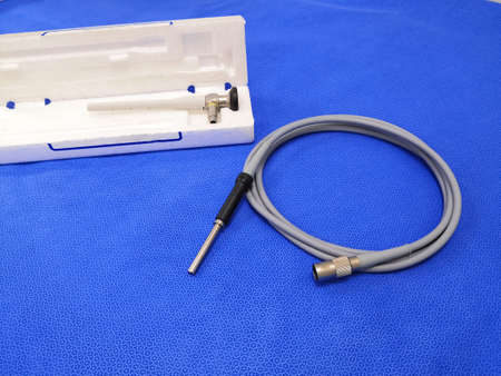 Medical Surgical Rigid Telescope And Fiber Optic Light Cable 写真素材