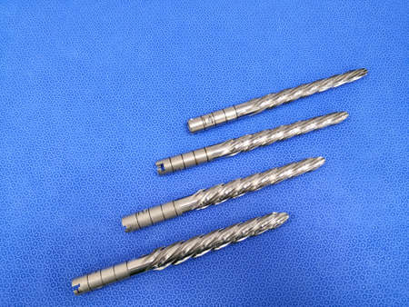 Orthopaedical Instrument Surgical Drill Bit. Selective Focus Stock fotó