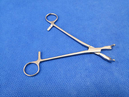 Closeup Image Of Rocker Forceps Using For Spinal Surgery