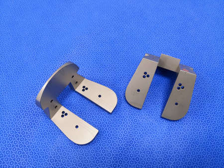 Surgical Instrument Femoral Resection Notch Cuts Using For Total Knee Replacement. Selective Focus
