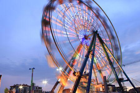 fun fair: Ferris Wheel in the fun fair