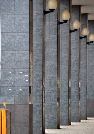 poland: Columns architecture Lodz Poland