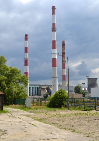 ec: Lodz chimneys Stock Photo