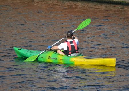 paddler: kayak