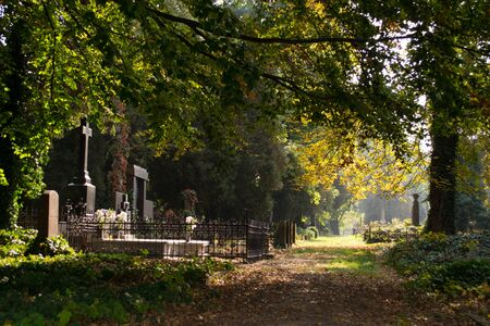 Cemetery - All Saints Day of the Dead Stock Photo