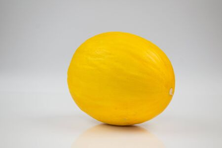 sectioned: melon yellow Stock Photo