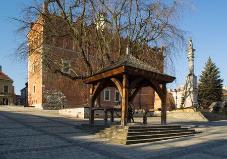 renaissance: Renaissance town hall in Sandomierz - Poland Stock Photo