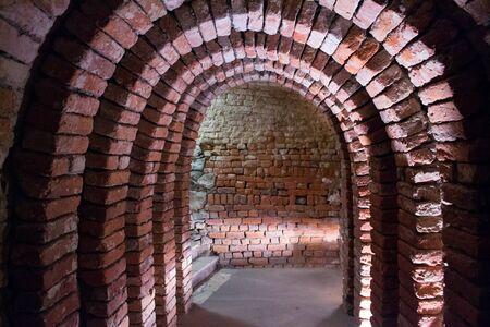 dungeons: Underground passages in Sandomierz, Poland Stock Photo