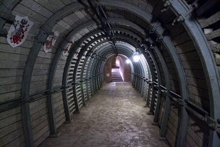 passages: Underground passages in Sandomierz, Poland Stock Photo