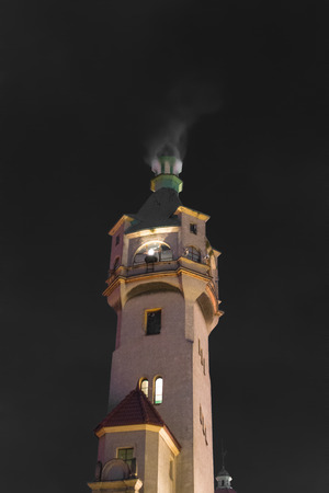 Lighthouse at night Zdjęcie Seryjne