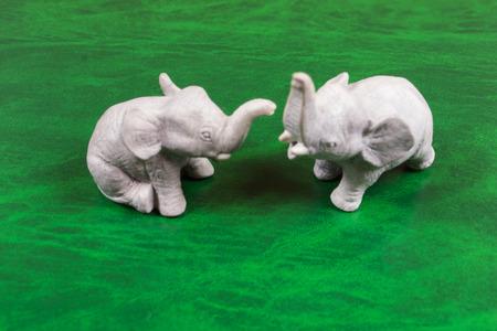 figurines: Figurines of elephants - the symbol Stock Photo