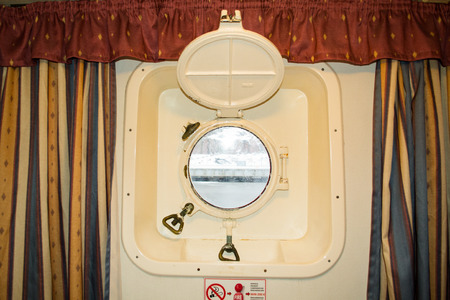 louvered: window in the cabin of the ship