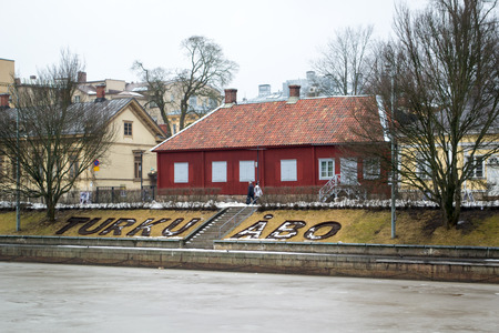estuary: The estuary of the river Aurajoki in Turku, Finland