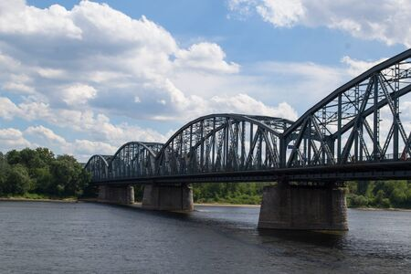 span: Steel bridge over the Vistula River