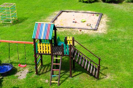 Childrens playground with necessary equipment