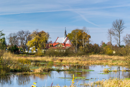Lonely church in Marzenin, Poland