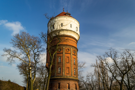 Water tower as a historical element in the city of Inowroclaw, Poland