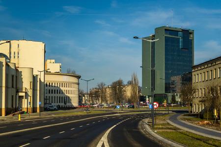 Urban landscape of the city of Lodz, Poland