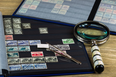 Postage stamps as a hobby Stock fotó
