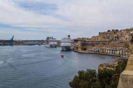 Valletta is a beautiful historic city and other charming places on the island of Malta. Фото со стока
