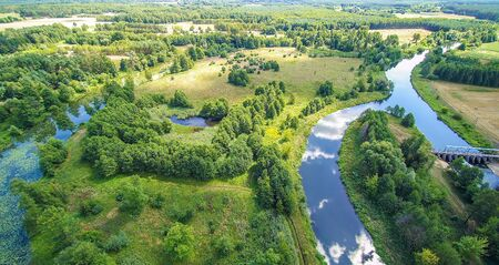 Autumn on the Widawka river, Poland.