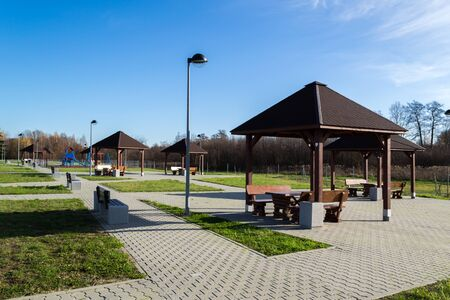 Parking with places to play and relax. Stock fotó