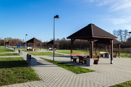 Parking with places to play and relax. Stock fotó - 134802586
