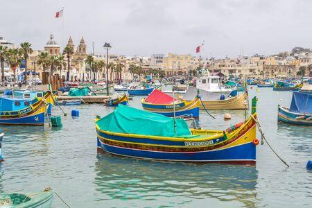Marsaxlokk est un port de pêche pittoresque sur l'île de Malte.