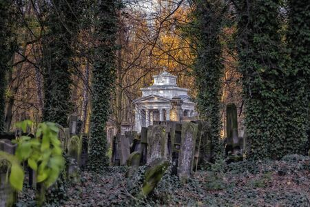 Jewish cemetery in the city of Lodz, Poland