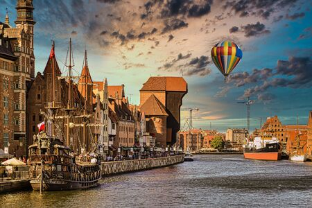 Historic city of Gdansk, a pearl of historic Polish architecture Stock Photo