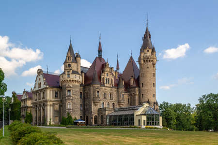Palace in Moszna - a historic residence located in the village of Moszna, in the Opolskie Voivodeship, Poland. Editorial