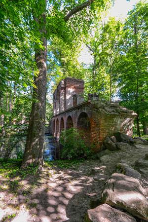 Romantic park in Arkadia village, Poland.
