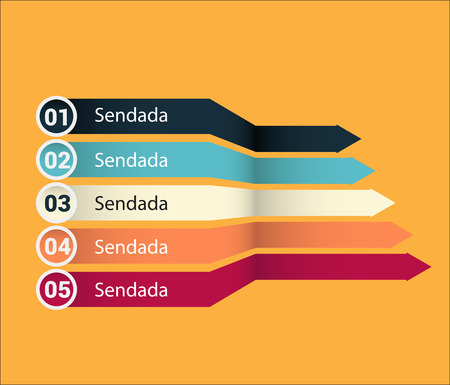 Infographic banners collection. Vector colorful infographic banner. Illustration