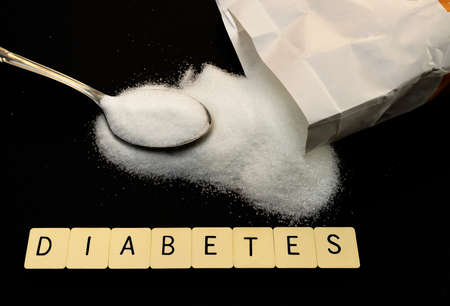 Medical concept of diabetes and excessive sugar consumption