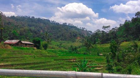 Very beautiful natural scenery of Cipongkor, Indonesia
