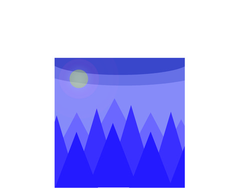 partly sunny: The abstract picture with the mountain view.